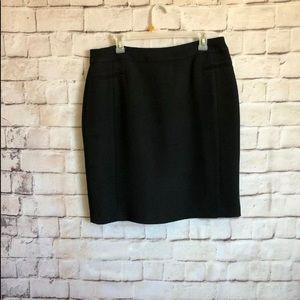 AK Ann Klein Skirt, Flat Waist, Pencil Rear Zip 14